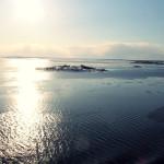 Wschód słońca na morzu
