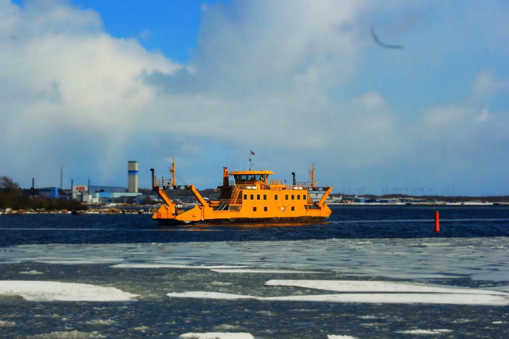 Aspö, Szwecja - prom pływający na trasie Karlskrona - Aspö