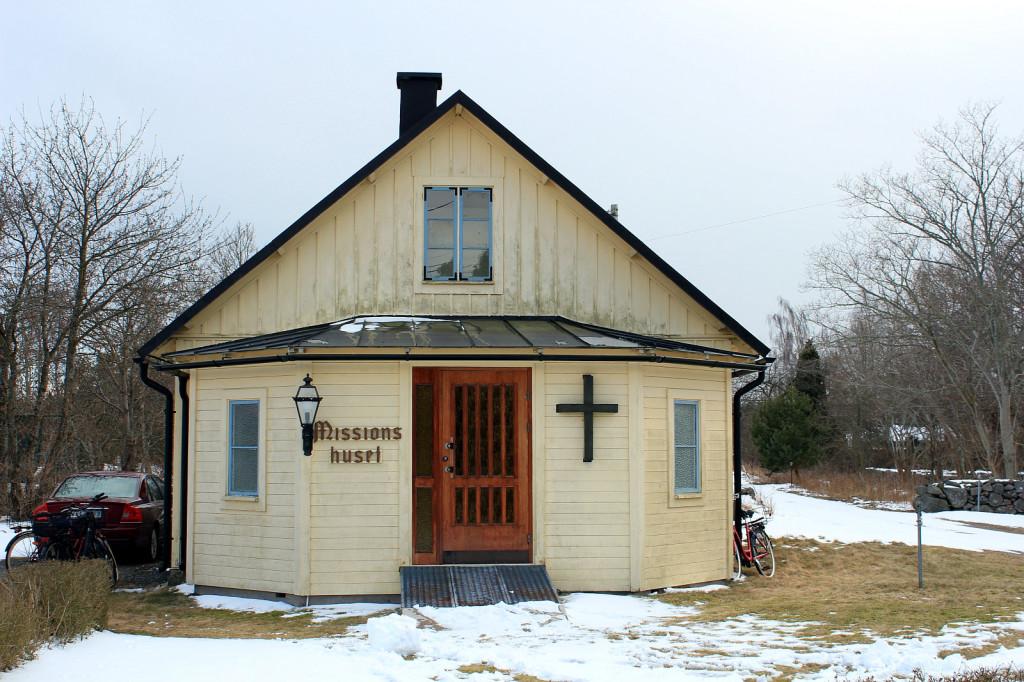 mały kościół w Aspö, Szwecja