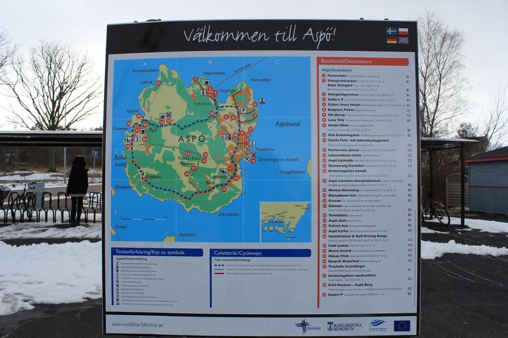 mapka Aspö, Szwecja