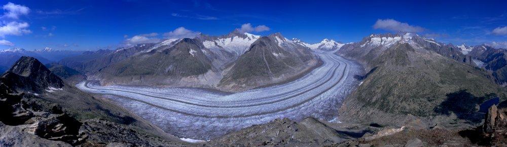 Szwajcaria: lodowiec Aletschgletscher na trasie Glacier Express; autor zdjęcia: Henri Saarikoski
