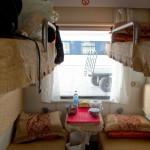 Kolej transsyberyjska: przedział w klasie ekonomicznej. Źródło zdjęcia: http://www.flickr.com/photos/butterforfilm/6145796855/