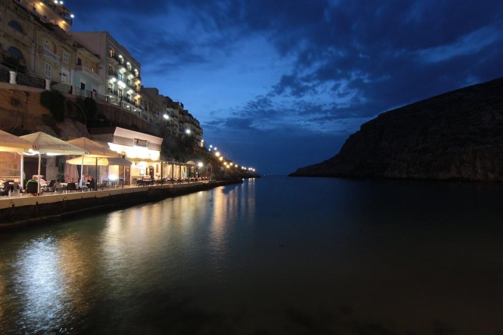 Malta: Xlendi na wyspie Gozo, widok z resturacji