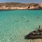 Malta: widok na  Blue Lagoon, Gozo
