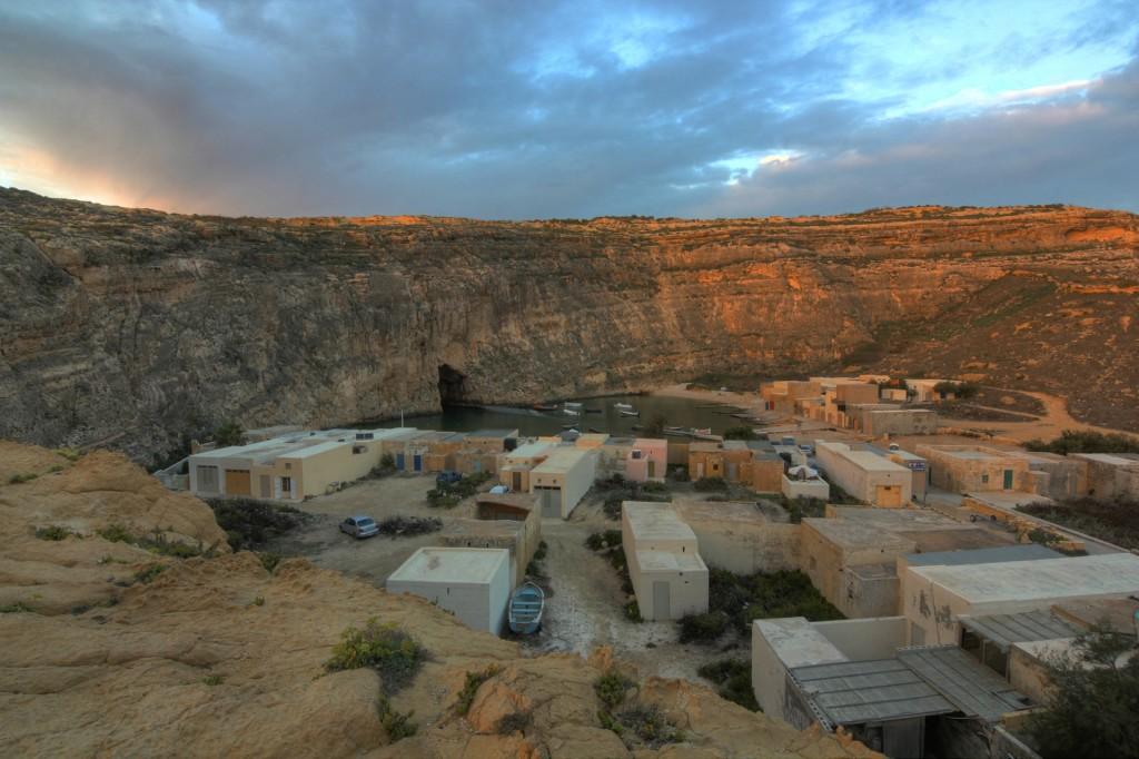 Dwejra: widok na Inland Sea