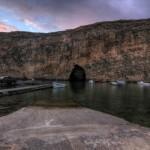 Dwejra: tunel pod skałą, Inland Sea