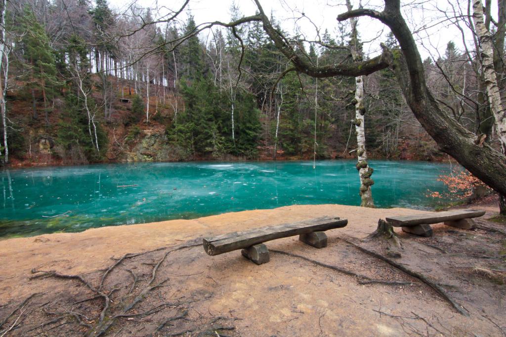 Rudawski Park Krajobrazowy, błękitne jeziorko