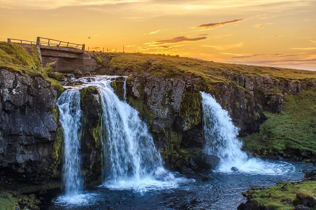 Islandia, wodospad Kirkjufellsfoss. Autor zdjęcia: Stefán Freyr Margrétarson.