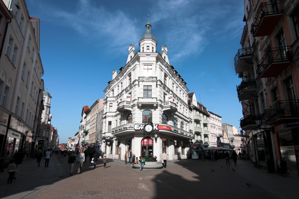 Toruń, centrum miasta - w drodze do Lenkiewicza