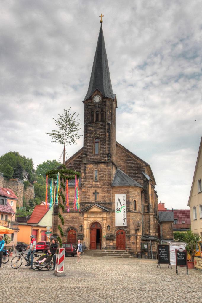 Saska Szwajcaria: rynek w Stadt Wehlen