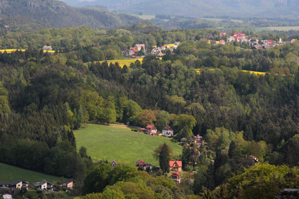Saska Szwajcaria: widok ze szczytów Parku Narodowego Saskiej Szwajcarii