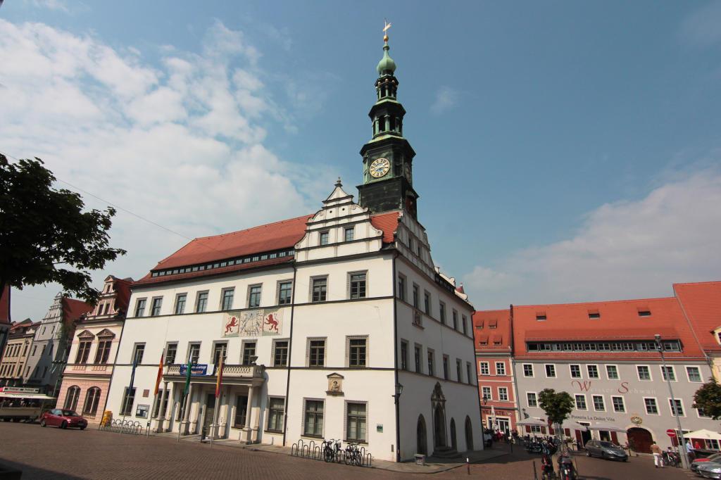 Saska Szwajcaria: centrum miasta w Pirnie