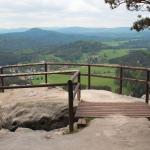 Czeska Szwajcaria: widok na Jetrichovice