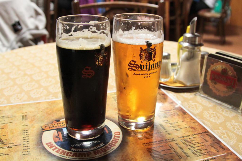 Czeska Szwajcaria: piwa Krušovice Černe oraz Bernard Světlý Ležák 12°
