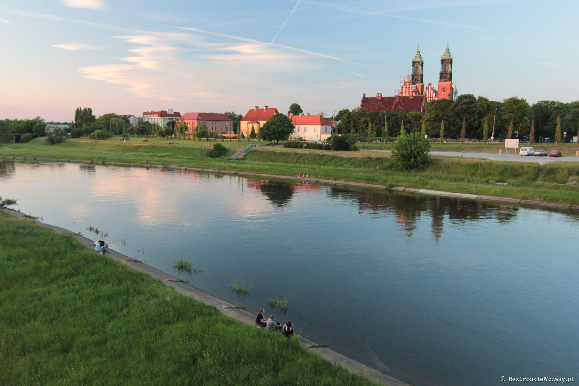 Poznań, widok na Wartę i Ostrów Tumski