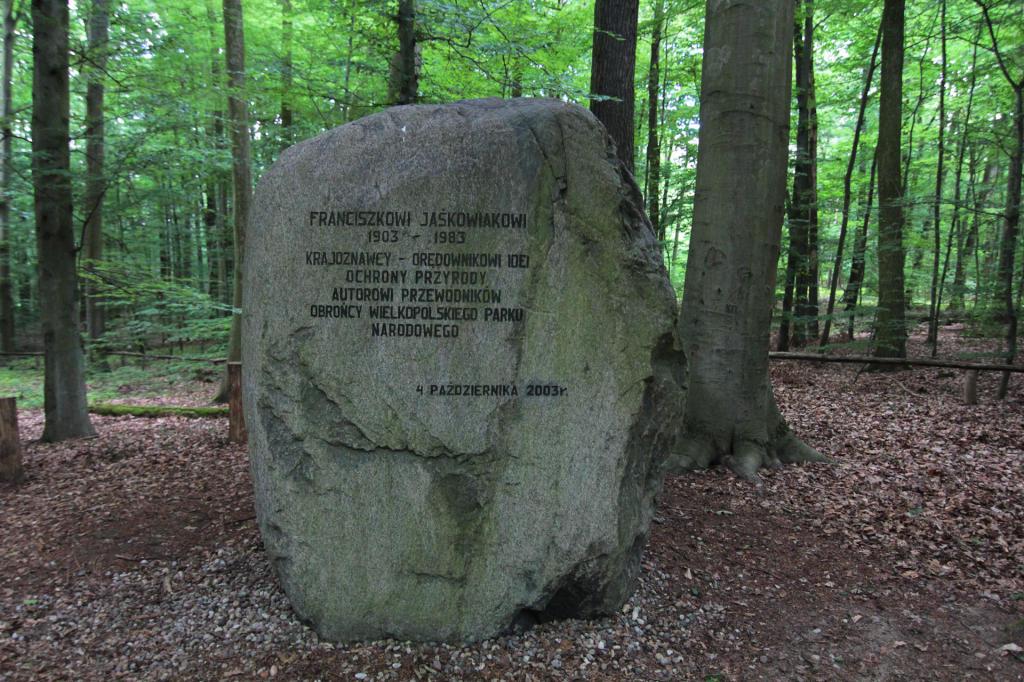 Wielkopolski Park Narodowy, Głaz poświęcony Franciszkowi Jaśkowiakowi
