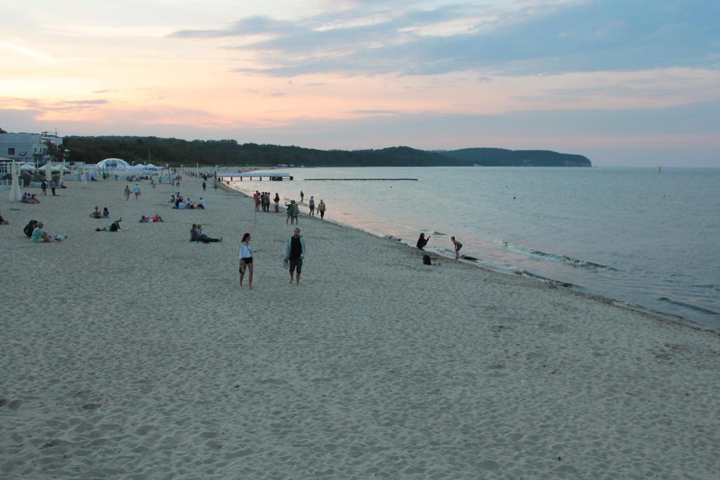 Sopot: plaża z perspektywy budki ratowniczej