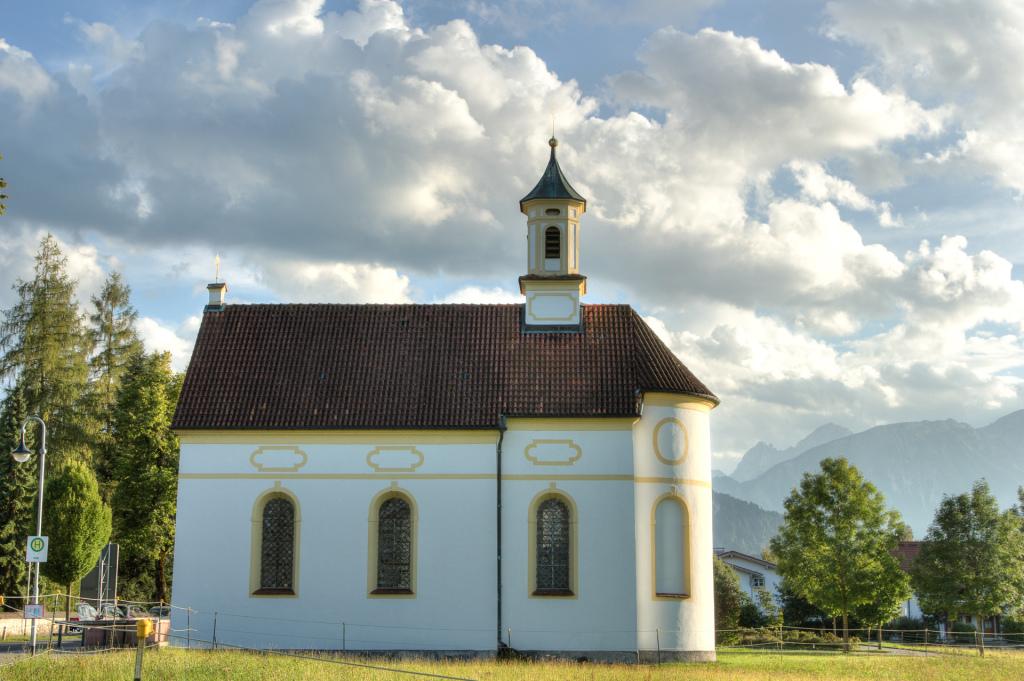 Niemcy: miniaturowy kościół w Füssen