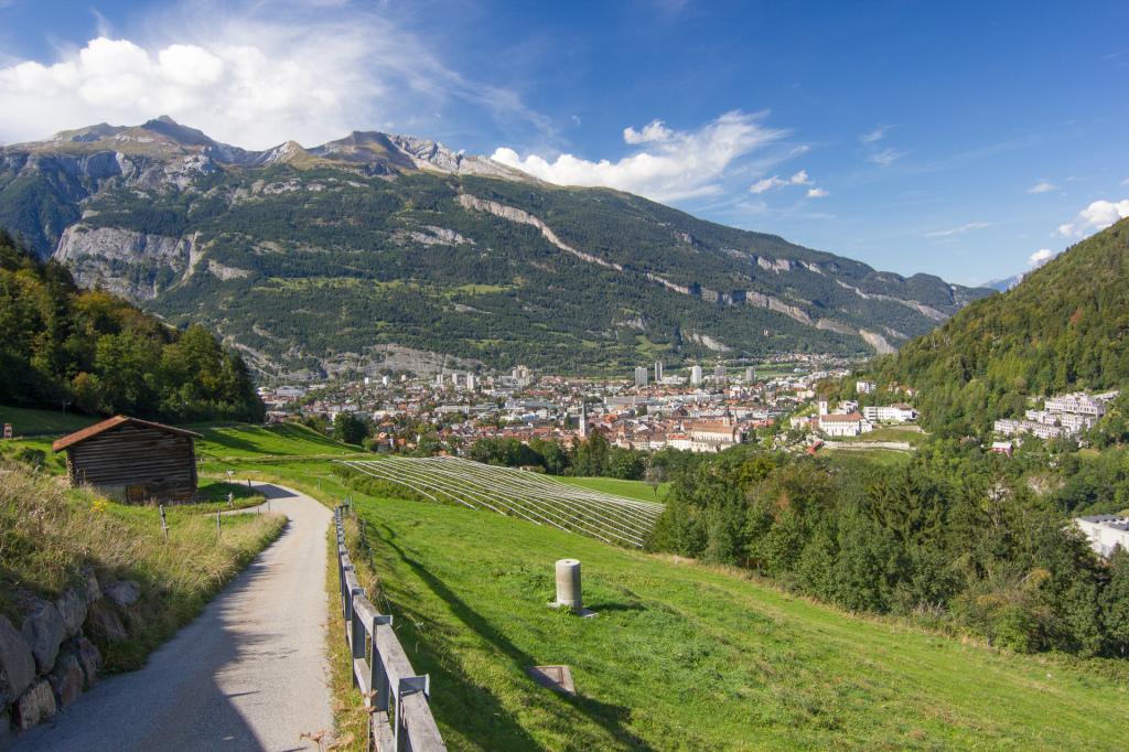 Szwajcaria: panorama miasta Chur
