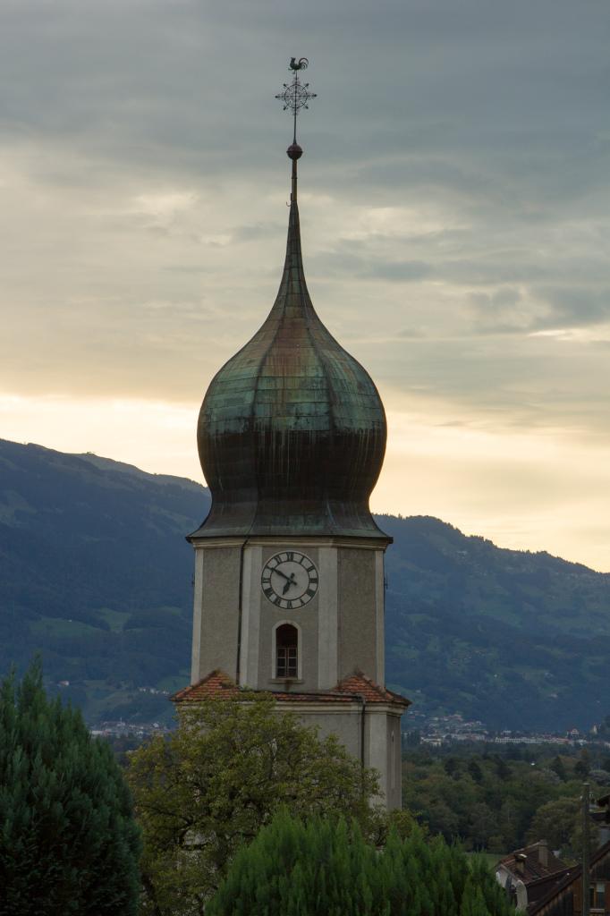 Szwajcaria: katedra w Fläsch