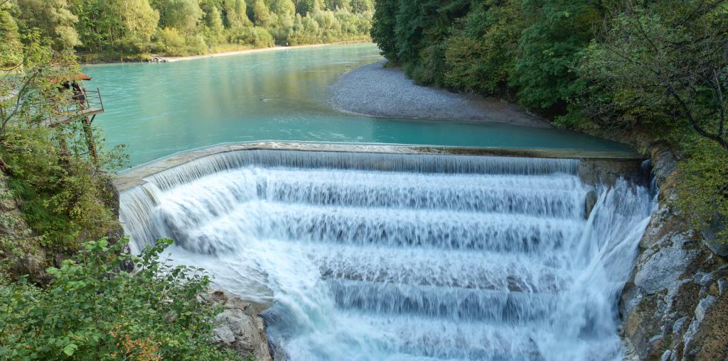 Niemcy: wodospad Lechfall w Füssen