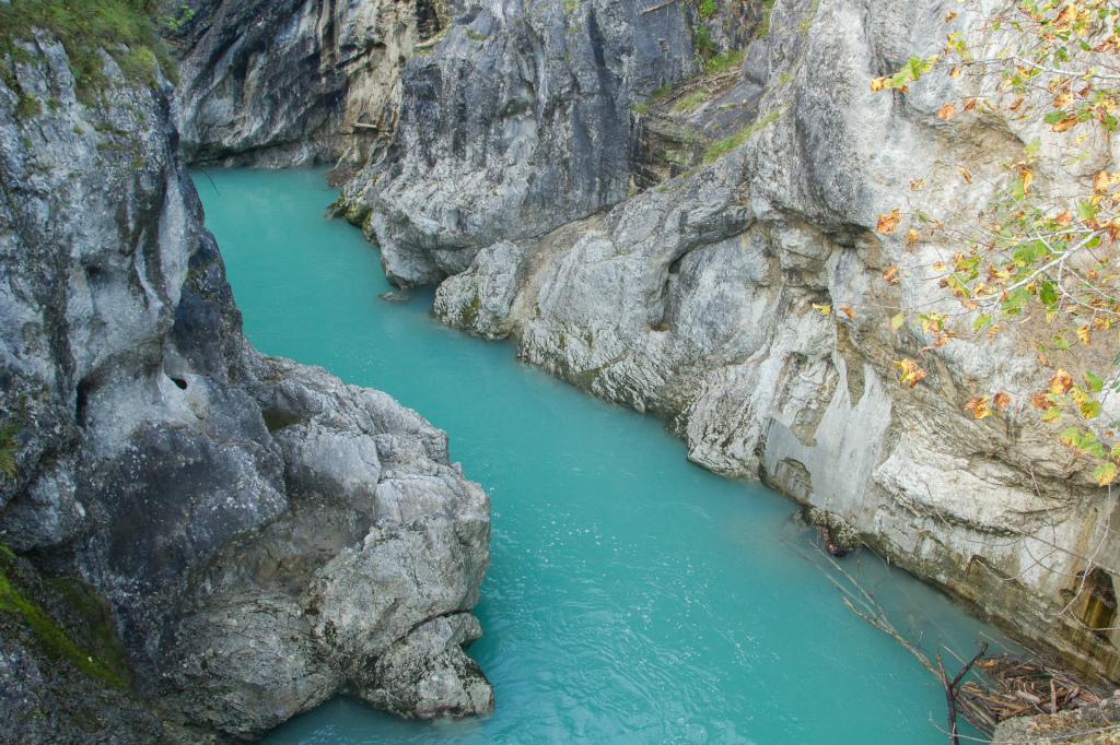 Niemcy: wąwóz na rzece Lech w Füssen
