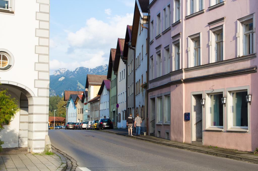 Niemcy: deptak w Füssen