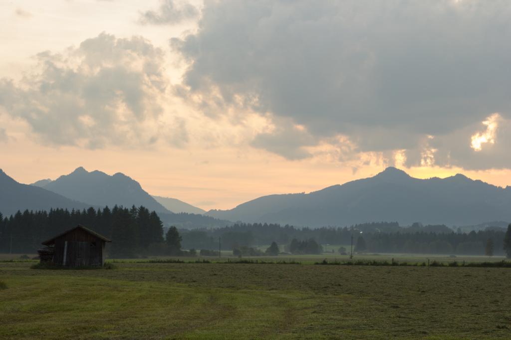 Niemcy: widoki na naszej trasie. Między Füssen, a Hopfen am See