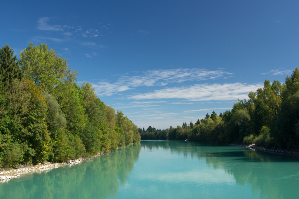 Niemcy: rzeka Lech w Füssen