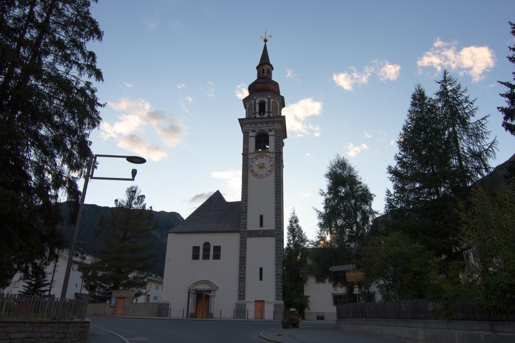 Szwajcaria: Bever, wieża kościelna