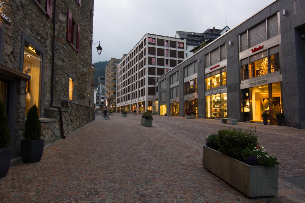 Szwajcaria: centrum Sankt Moritz