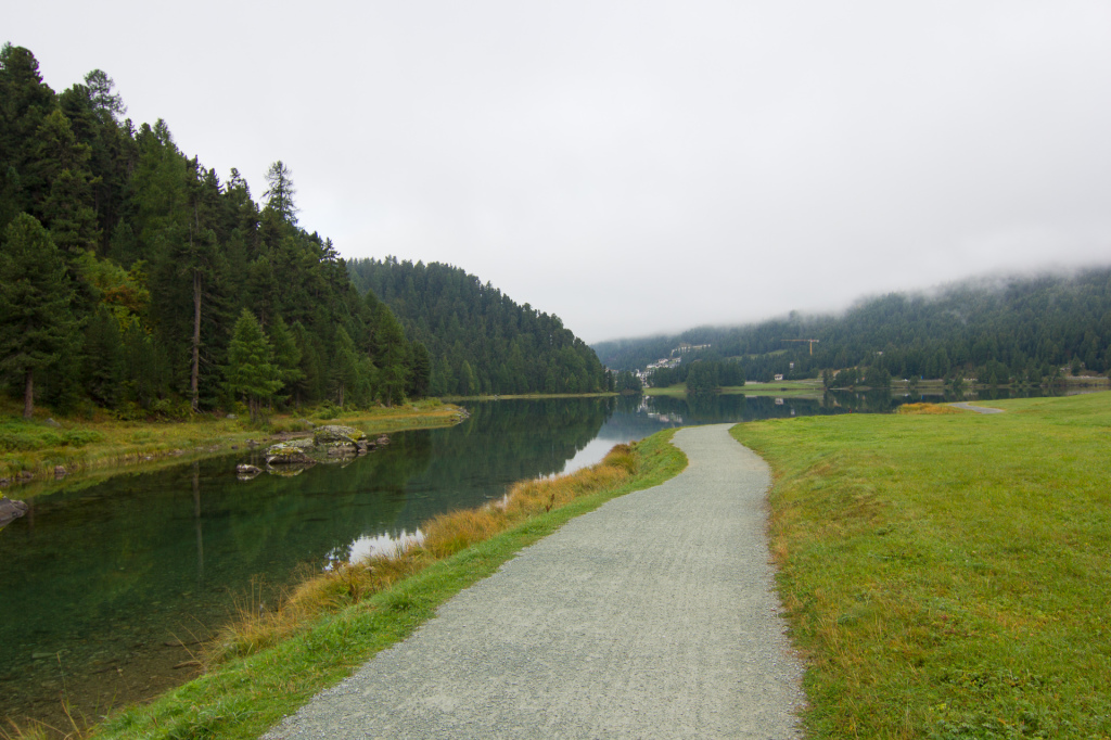 Szwajcaria: w drodze z Sankt Moritz do Silvaplana