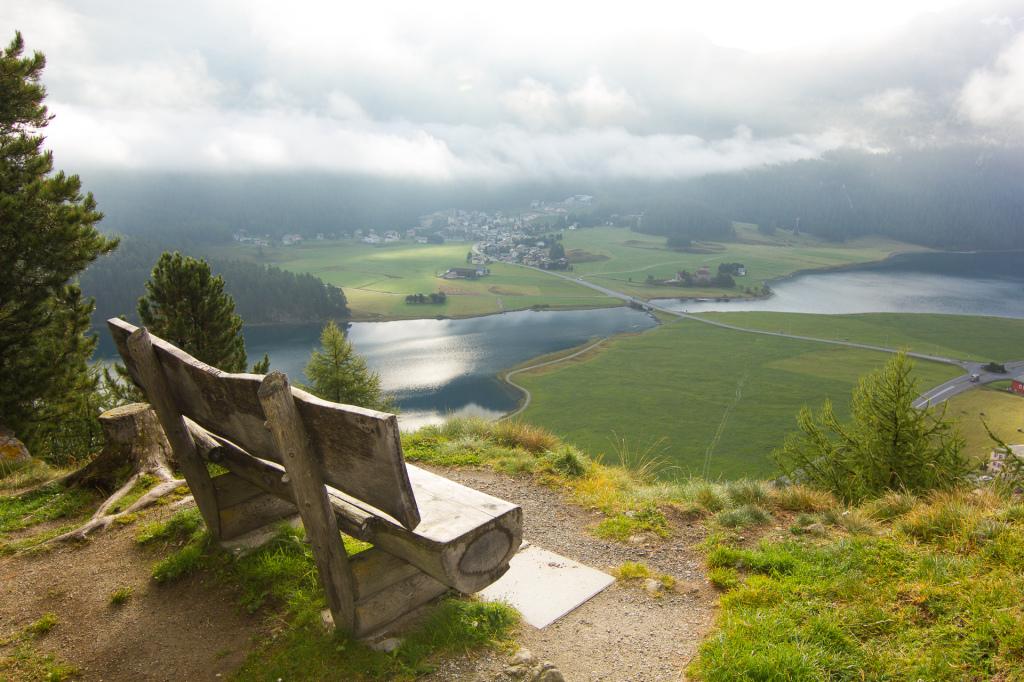 Szwajcaria: panoramana Silvaplana