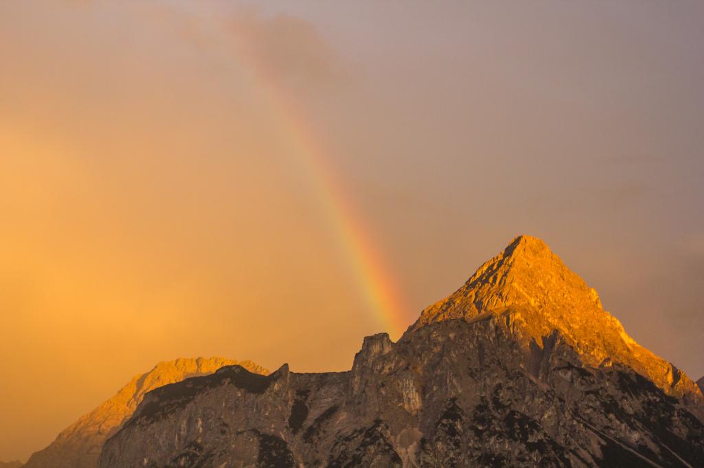 Austria: tęczowe góry w okolicach Lermoos