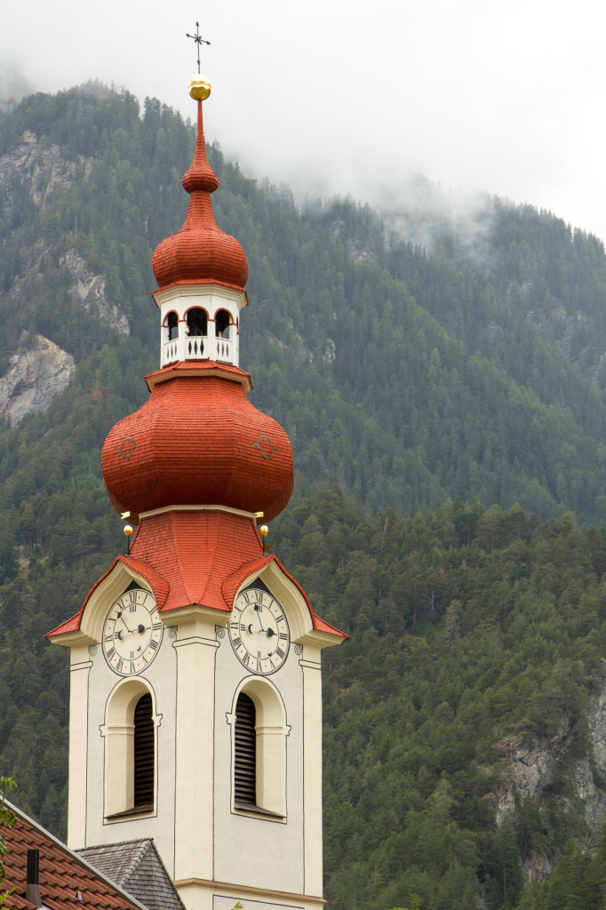 Austria: Pfunds, wieża kościelna