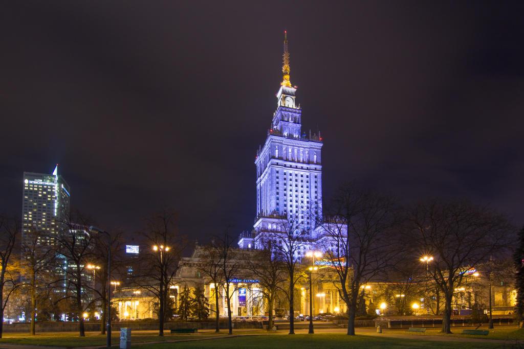Warszawa: Pałac Kultury