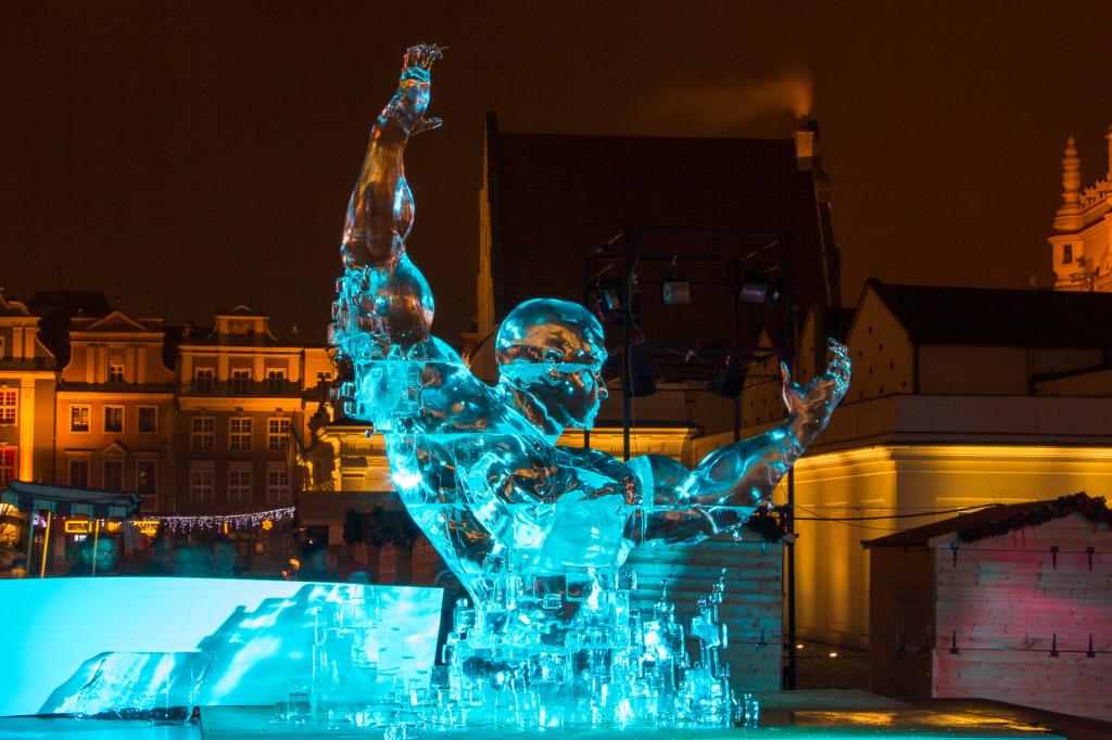 Festiwal Rzeźby Lodowej. Zwycięska rzeźba