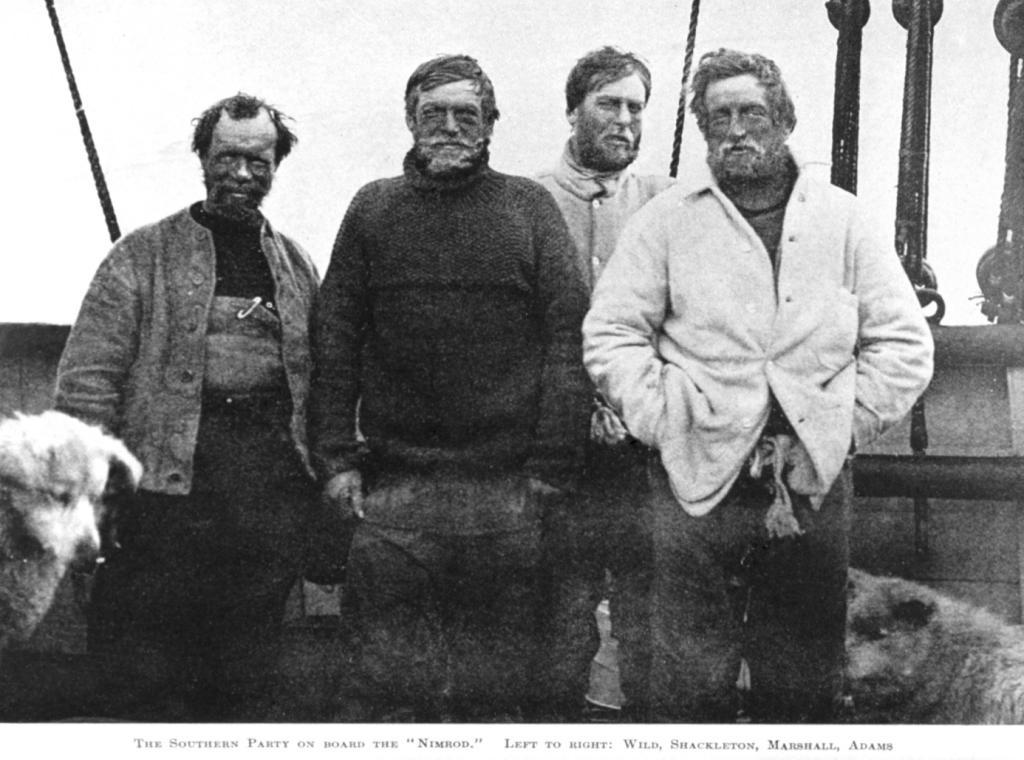 Na zdjęciu (od lewej): Wild, Shackleton, Marshall, Adams