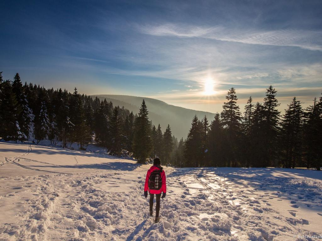 Zachód słońca na Śnieżniku i nocne błądzenie w lesie