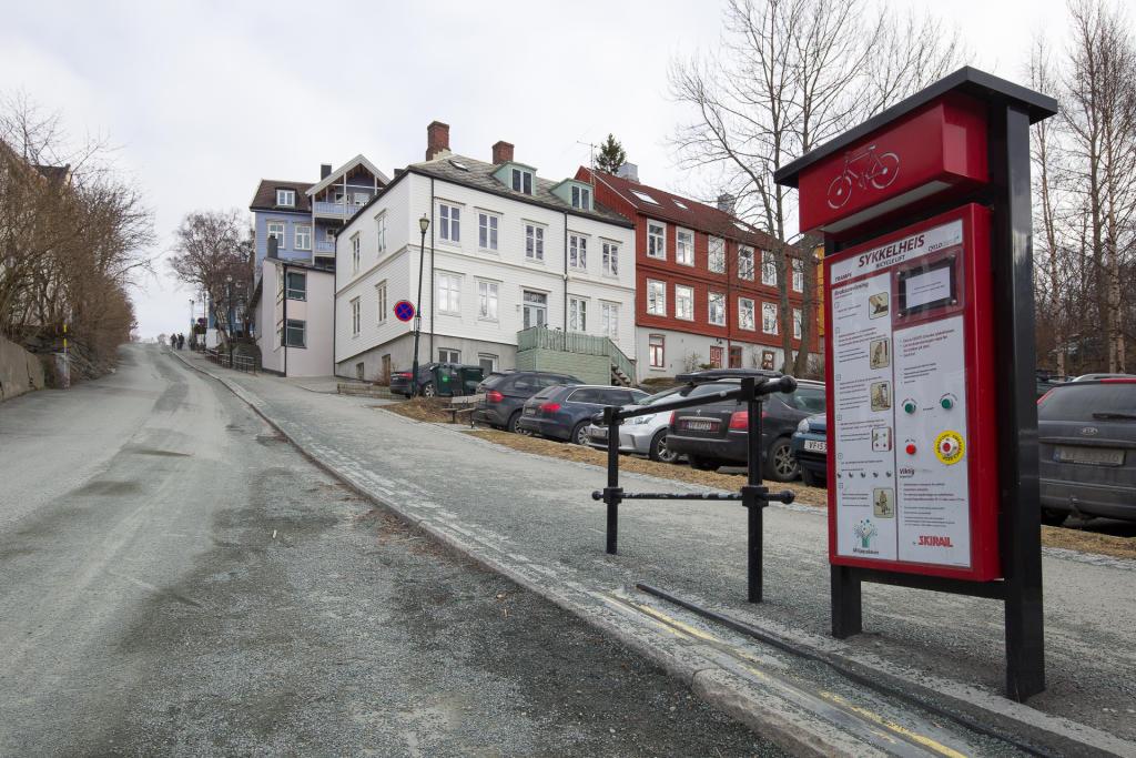 Trondheim: winda rowerowa