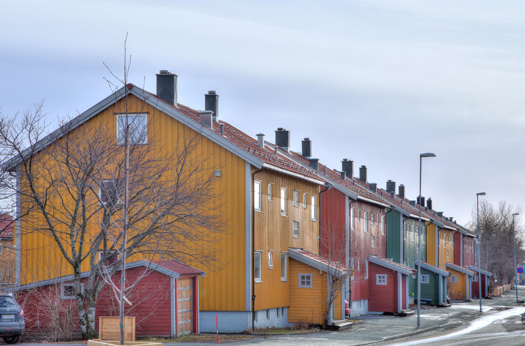 Bodø: kolorowe domki