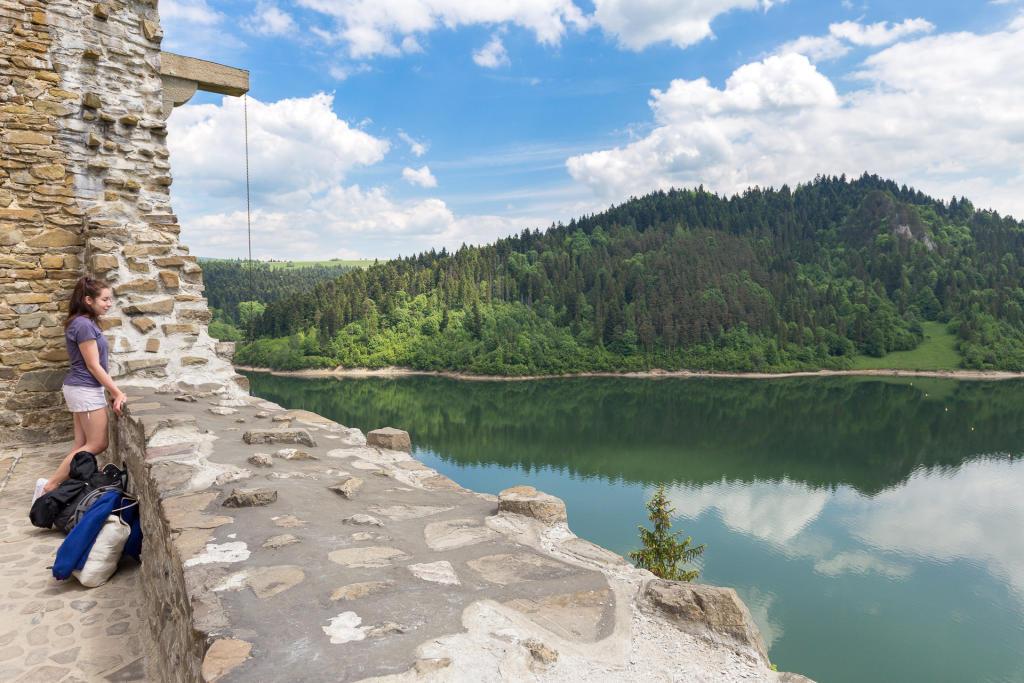 Taras widokowy na zamku Dunajec w Niedzicy