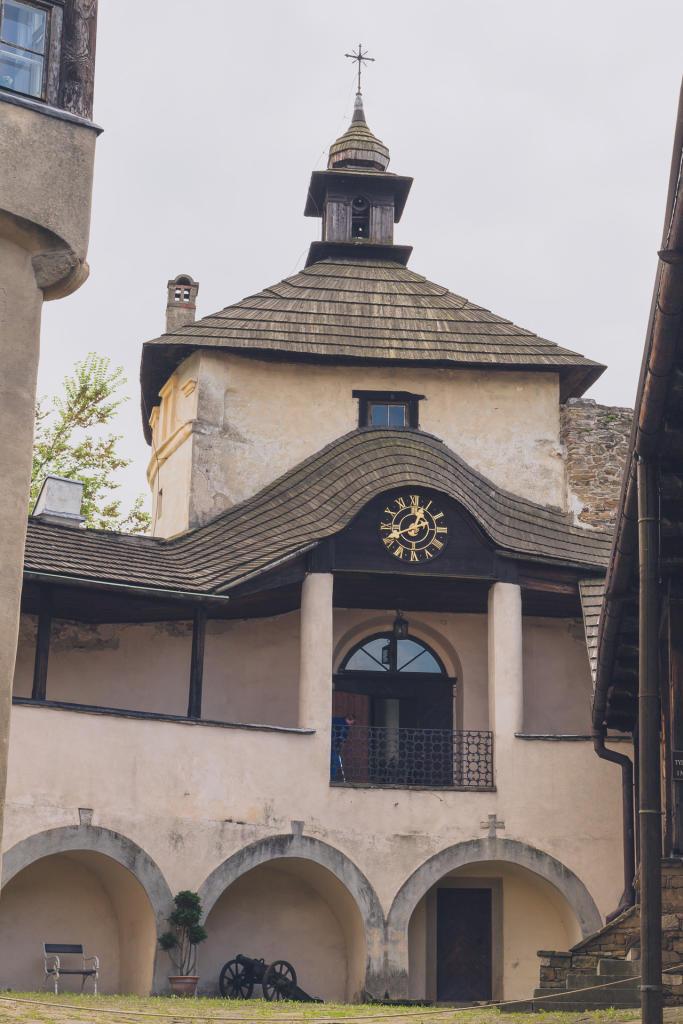 Wnętrze zmku Dunajec w Niedzicy