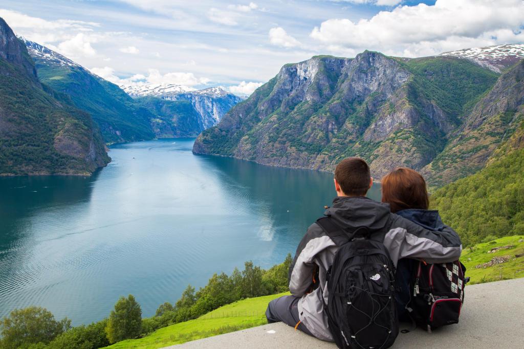 Widok na Aurlandsfjord
