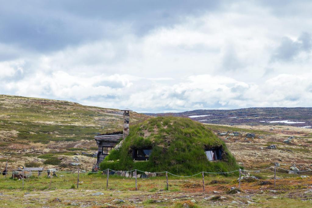 Hotel na płaskowyżu Hardangervidda