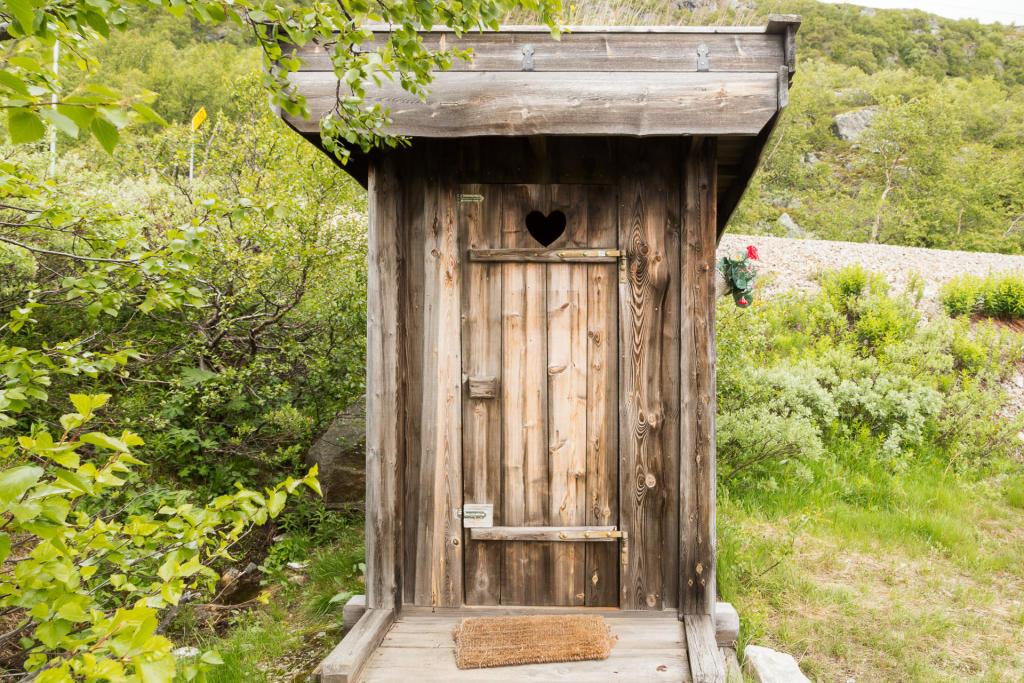 Rallarvegen - klimatyczne WC na trasie