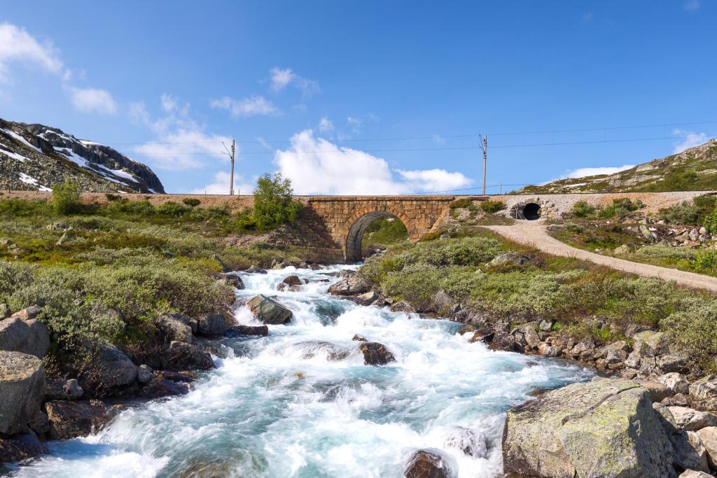 Rallarvegen - jeden z tysiąca potoków
