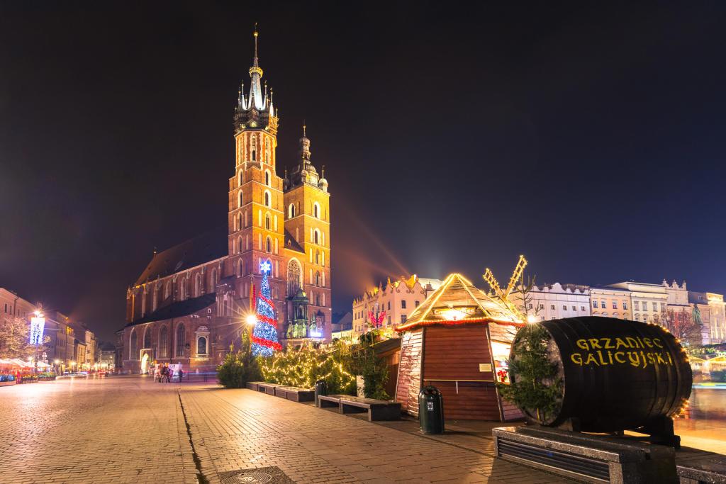 Świąteczny Kraków: Bazylika Mariacka