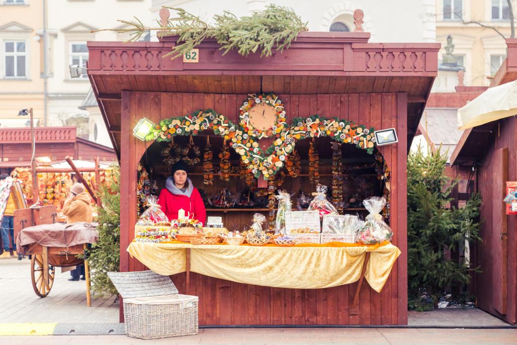 Kraków: jarmark świąteczny