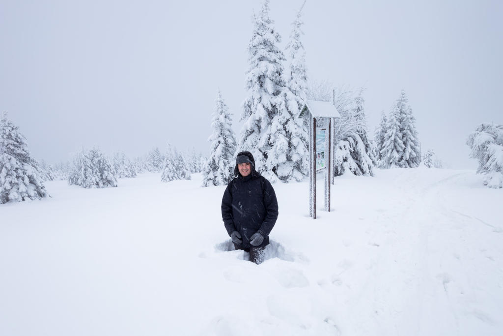 Na szlaku z Łabskiego Szczytu do Szrenicy